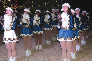 The 2014 Christmas in the park celebration included the McMillen High School Dazzlers dance team.