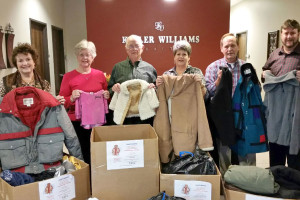 Murphy Exchange Club collected 90 coats to be shared between the Children's Advocacy Center of Collin County and Allen Community Outreach. Shown from left, Mary Pat Elledge, Shirley Hendrix, Gordon Hanson, Sharon Neely, Mike Hendrix and Rick Oaks.