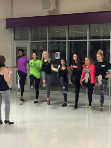 Members of the Wylie High Theatre Department get a kick out of practicing their routine for the upcoming production of 'Shrek the Musical' coming to stage in early February.