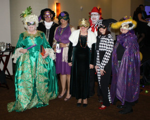 Costume contest participants during the Jan. 22 Chamber Banquet were Marcia Jowers (from left), William Jowers, Stephanie Knox, Sherry Searcy, Ron Searcy, Gail Roden and Mary Pat Elledge.