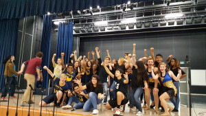 """The cast of McMillen High Schools upcoming production """"Footloose the Musical"""" does a freeze frame for the end of one of their dances. The show will take to the stage Feb. 25, 26 and 27."""