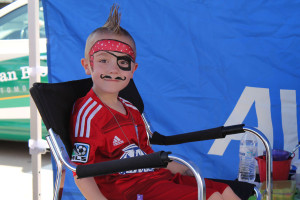 Brock Winton shows off his pirate face during last years Spring Fever event in Murphy.