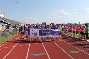 Crowds cheer on survivors during the 2015 Relay for Life event.