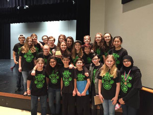 """Murphy Middle School theatre students took 1st place at a recent UIL theatre competition with their production of """"These Shining Lives""""."""
