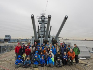 30 Boy Scouts and 13 leaders from Troop 1776 made the pilgrimage from Dallas for the Valley Forge encampment last month. Known as the oldest annual Scouting event in the world, the trip included stops in Phildelphia for an overnight stay on the Battleship New Jersey before heading to Valley Forge. Bitter cold temperatures made the outdoor camping portion of the trip a challenge.