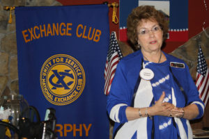 The Exchange Club of Murphy celebrated their 10-year anniversary on Monday, June 13 during their bimonthly meeting at Country Burger. Charter Member Mary Pat Elledge spoke about the fundraisers and club mission during the luncheon and meeting.