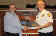 Outgoing fire chief receives special thanks