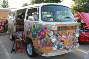 This 1967 Volkswagen Bus was a trophy winner at the Bodie Smith Cancer Benefit car show held Saturday at Country Burger in Murphy.