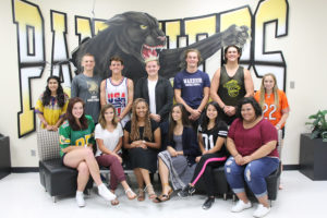 Members of the homecoming court this fall at Plano Eash Senior High are king and queen nominees, front from left to right, Payton Cabrera, Jessica Wilson, Lexi Gladney, Carissa Aguila, Vy Dang and Jazmyn Tullos; back left to right, Malaika Jhaveri (Jr. princess), Matthew Carey, Andrew Ligon, Dylan Strickland, Ethan Mellon, Casey Vurhulst and Channing McCurdy (Jr. princess). Not pictured: king nominee Miklo Smalls.