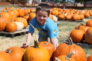 Jacob Roark picks out the perfect pumpkin Sunday, Oct. 2 at the Murphy Road Pumpkin Patch at Murphy Road Baptist Church. The church will be selling pumpkins from 2 to 8 p.m. Monday through Friday, Saturdays from 10 a.m. to 8 p.m. and Sundays from 11 a.m. to 8 p.m.