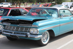 A 1959 Chevrolet Impala takes part in the car show during the Sept. 24 eighth annual Murphy Maize days at Central Park.