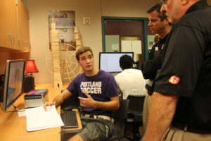 Engineering notes made during the design and construction of a pinhole camera are explained by Wylie High School senior student Austin Jones.