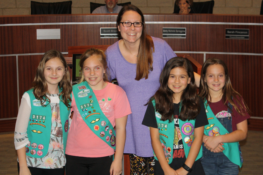 Girl Scouts plan little library