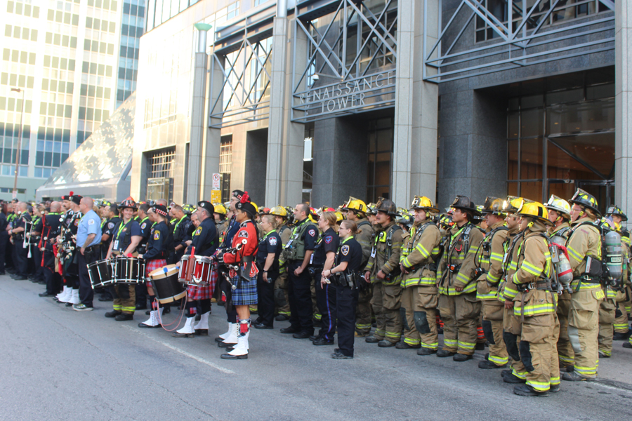 NC first responders participate in 110 floor climb in honor of 9/11