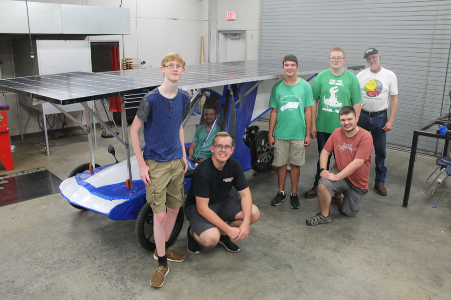 Wylie East High School solar car team racing to California