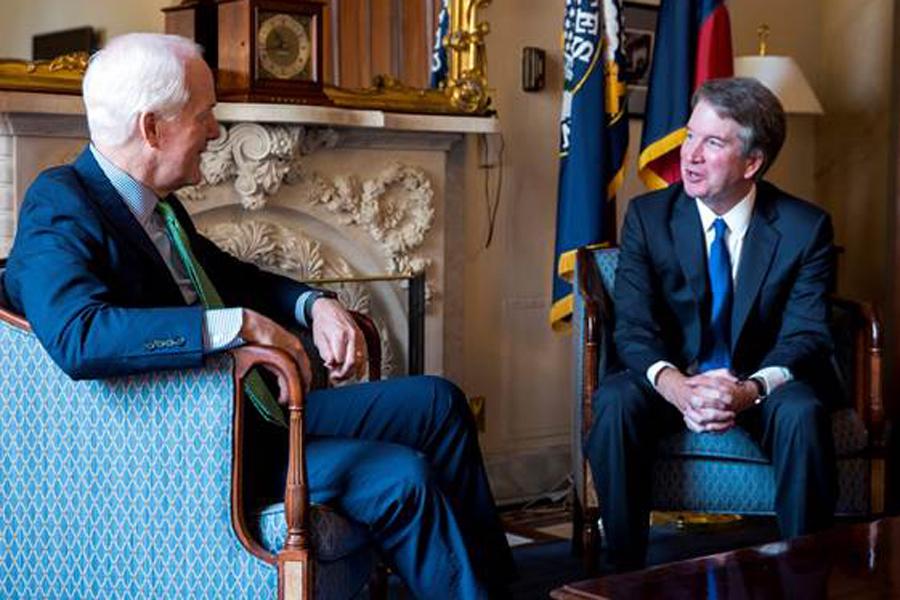 U.S. Senator John Cornyn meets with Judge Brett Kavanaugh