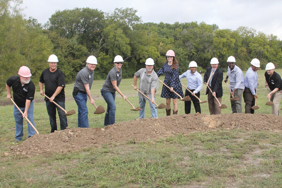 Capital projects groundbreaking held at park