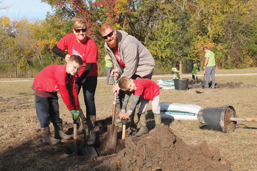 Arbor Day tree planting Nov. 2