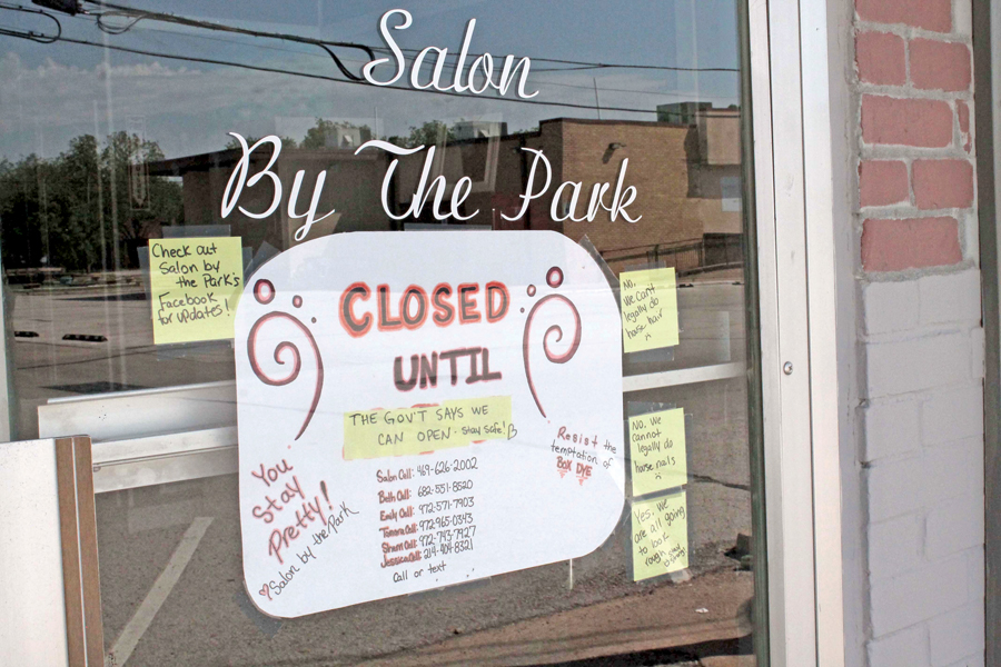 No cuts, color as salons stay closed