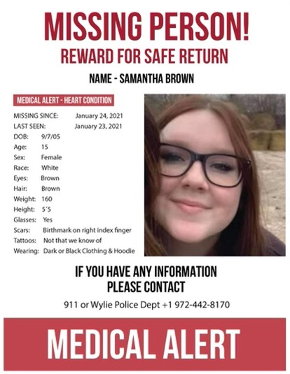 Police continue search for runaway from Wylie