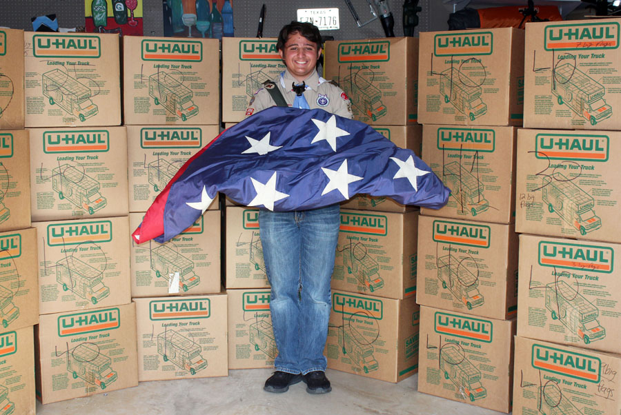 Respectful retirement held for Old Glory