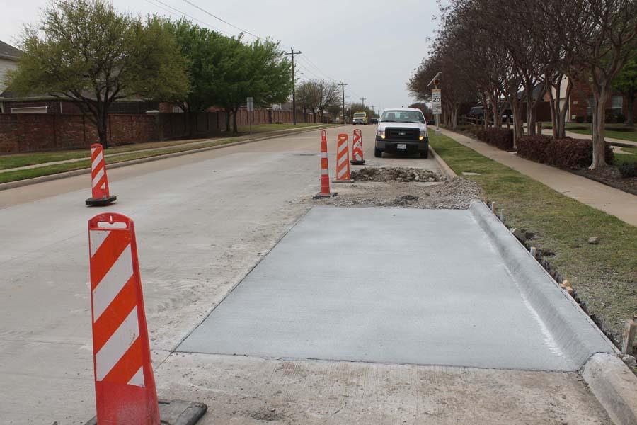 Murphy continues road, sidewalk work
