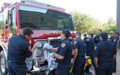 Fire department does ceremony for new engine